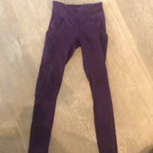 purple lululemon pants